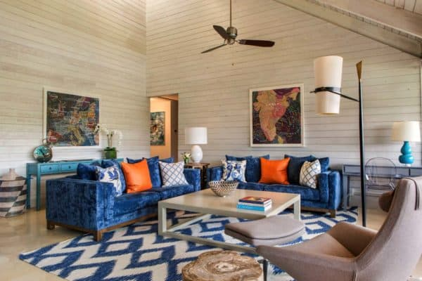 featured posts image for A farmhouse style retreat in Florida features pops of color