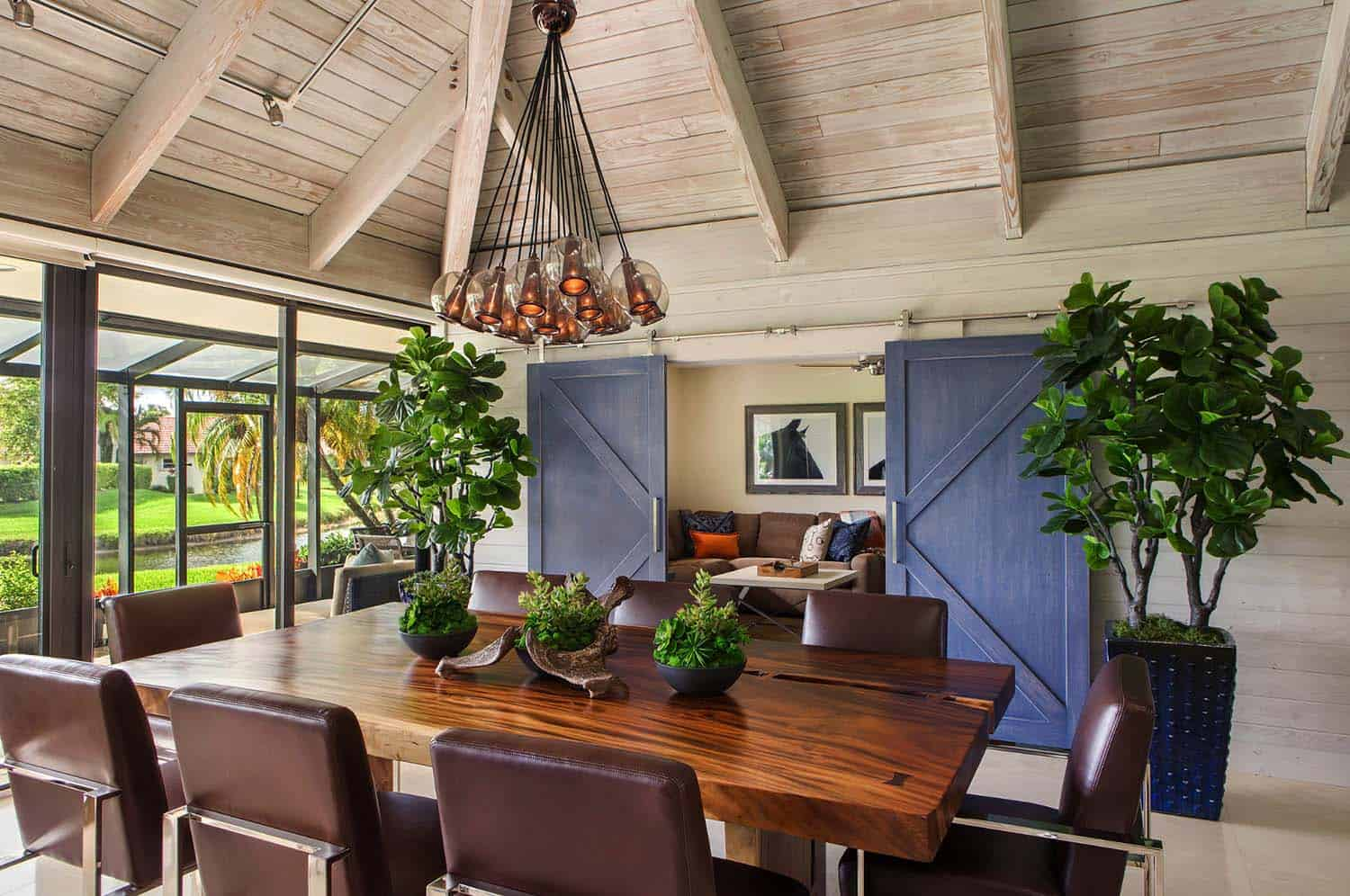 A farmhouse style retreat in florida features pops of color - What is farmhouse style ...