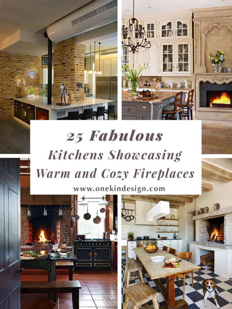 Large Kitchen Design Ideas00 25 Fabulous Kitchens Showcasing Warm And Cozy Fireplaces
