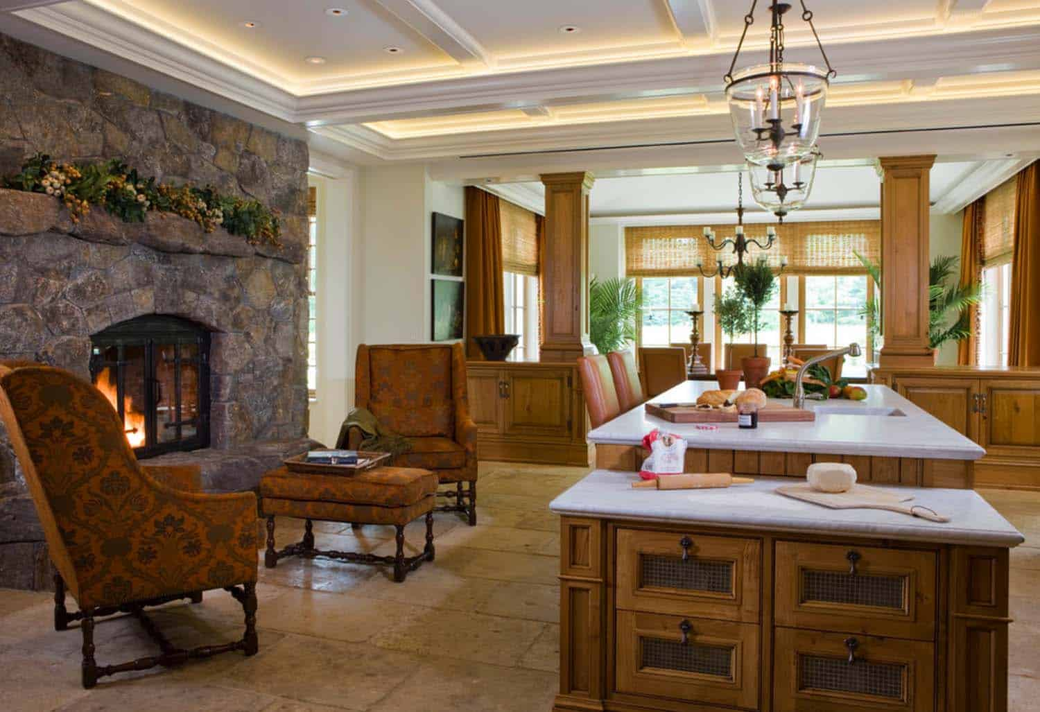 Freedom Furniture Kitchens 25 Fabulous Kitchens Showcasing Warm And Cozy Fireplaces