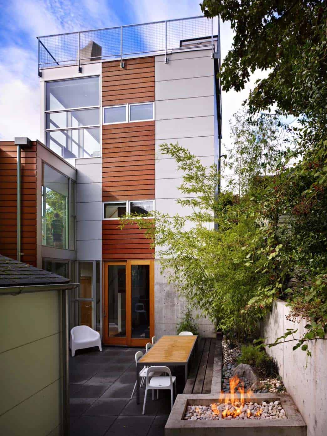 Striking Three Story Modern Dwelling In Seattle With A Rooftop Deck