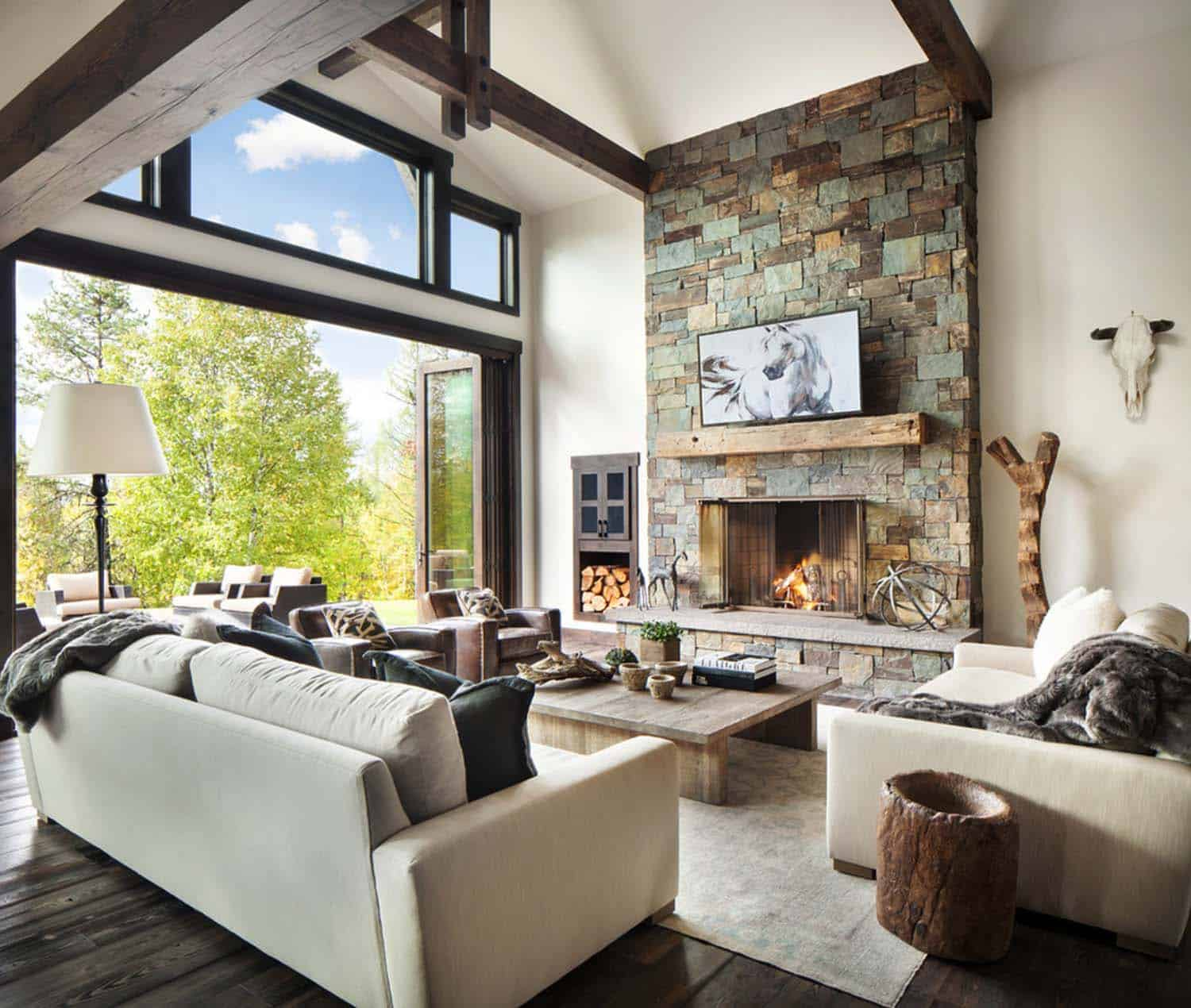 Interior Home Design Photos: Rustic-modern Dwelling Nestled In The Northern Rocky Mountains