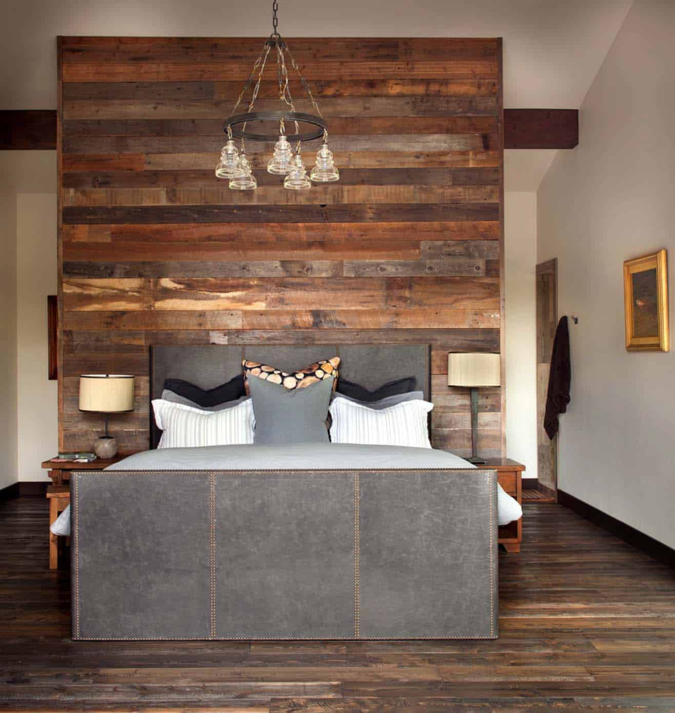 Rustic modern dwelling nestled in the northern rocky mountains for Mountain modern bedroom