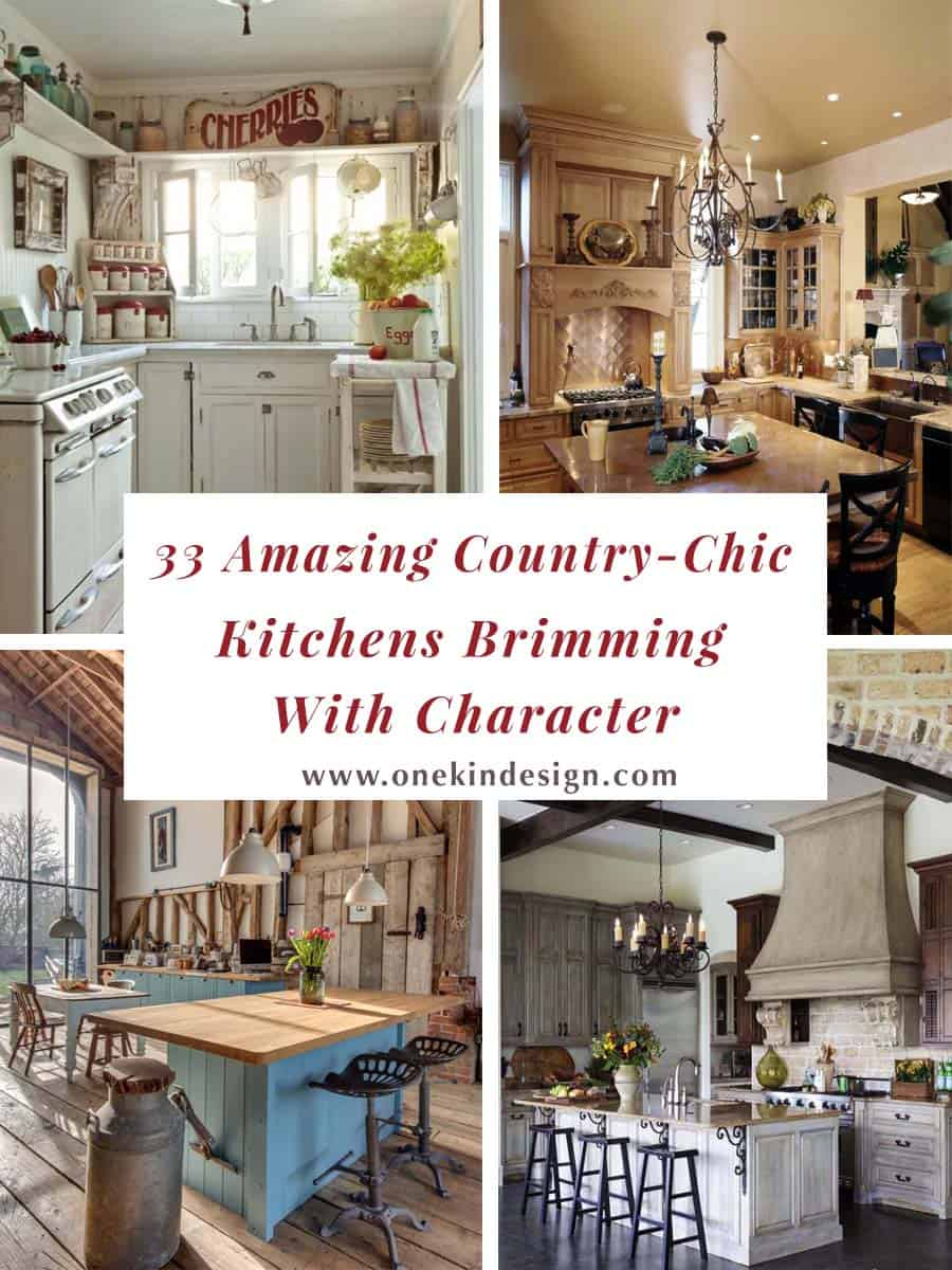 Amazing Country Chic Kitchens-00-1 Kindesign