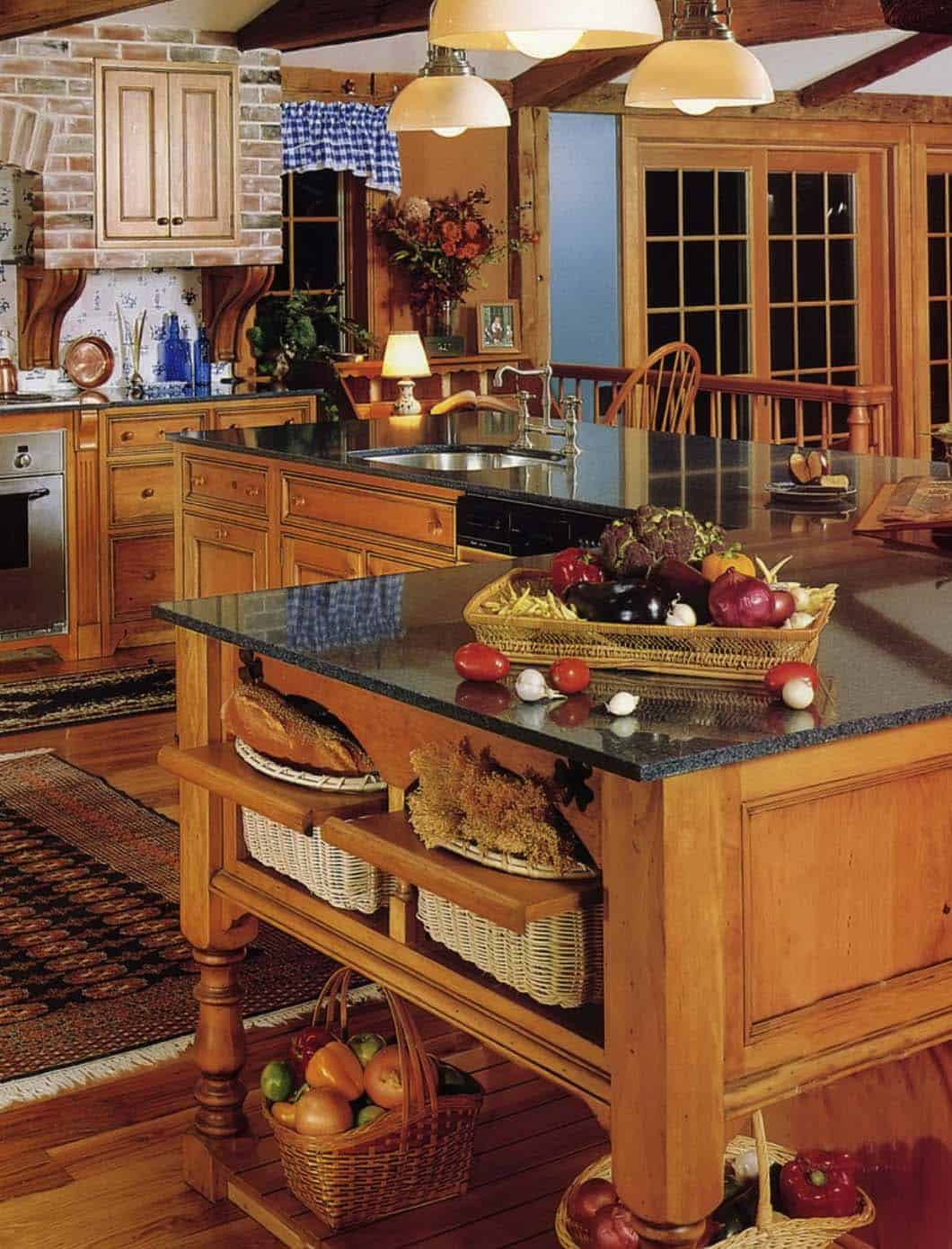 Amazing Country Chic Kitchens-03-1 Kindesign