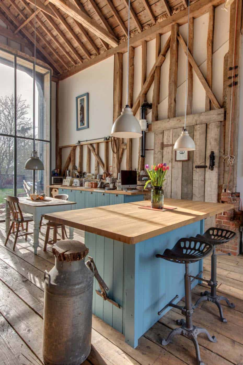Amazing Country Chic Kitchens-08-1 Kindesign