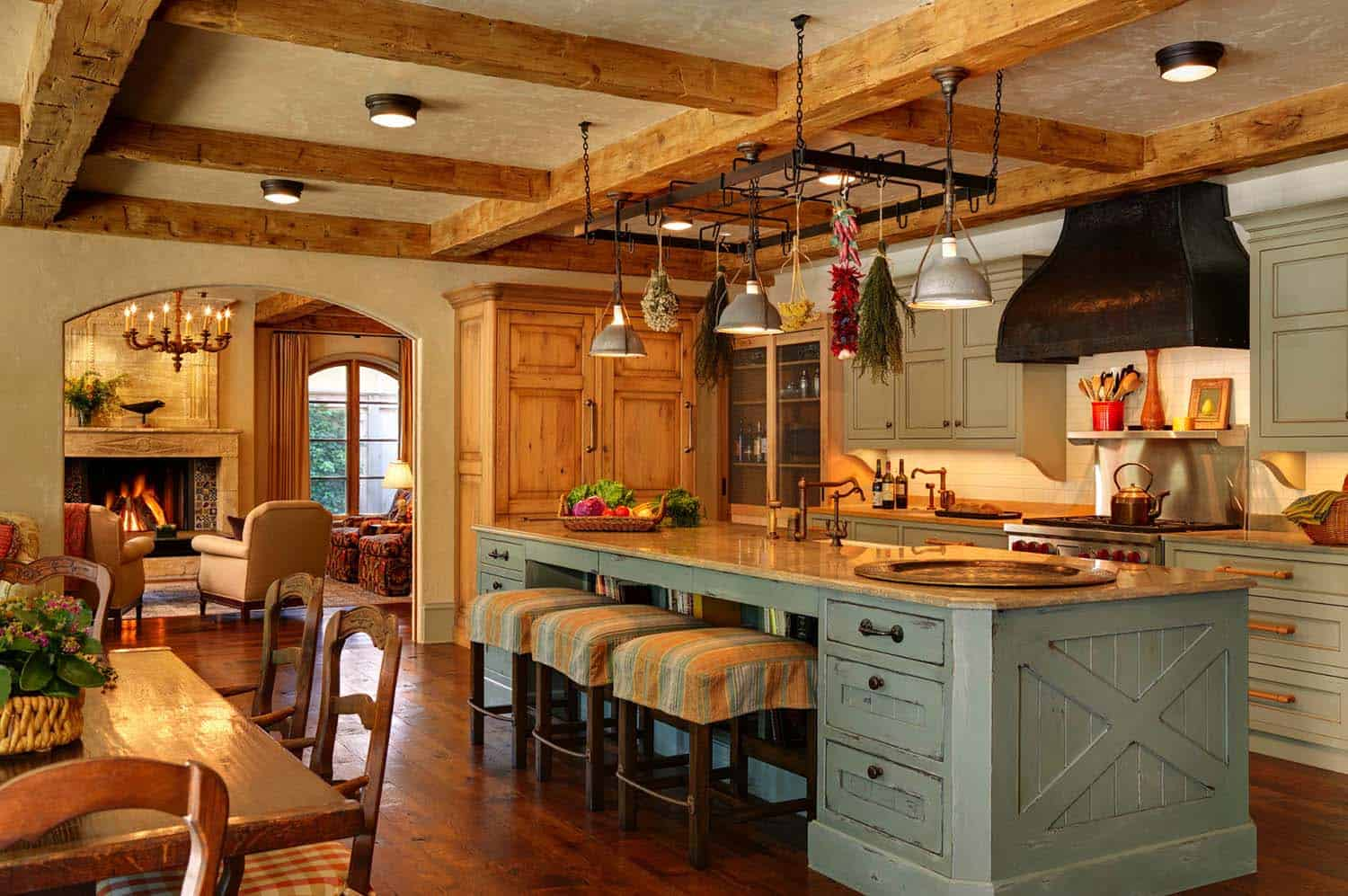 Amazing Country Chic Kitchens-12-1 Kindesign