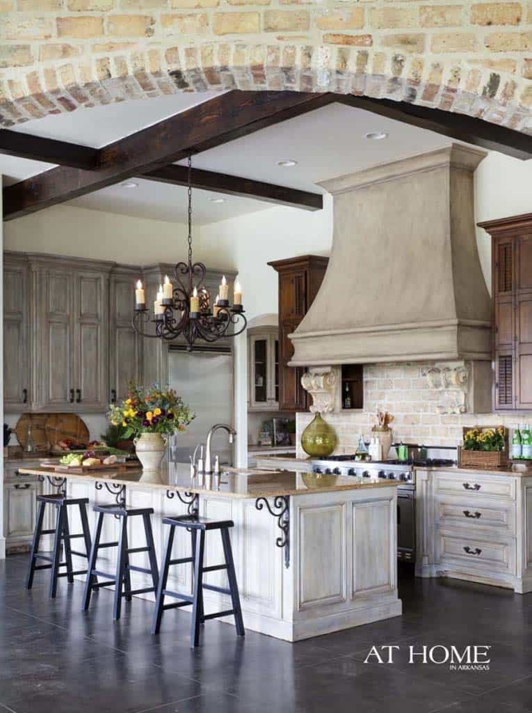 Amazing Country Chic Kitchens-15-1 Kindesign