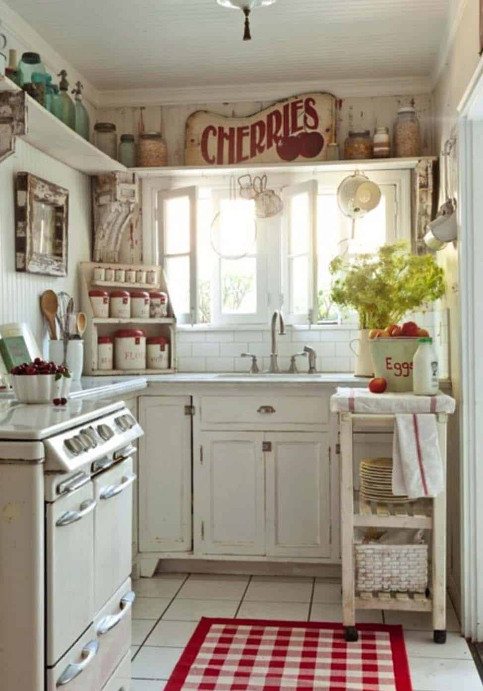 Amazing Country Chic Kitchens-16-1 Kindesign