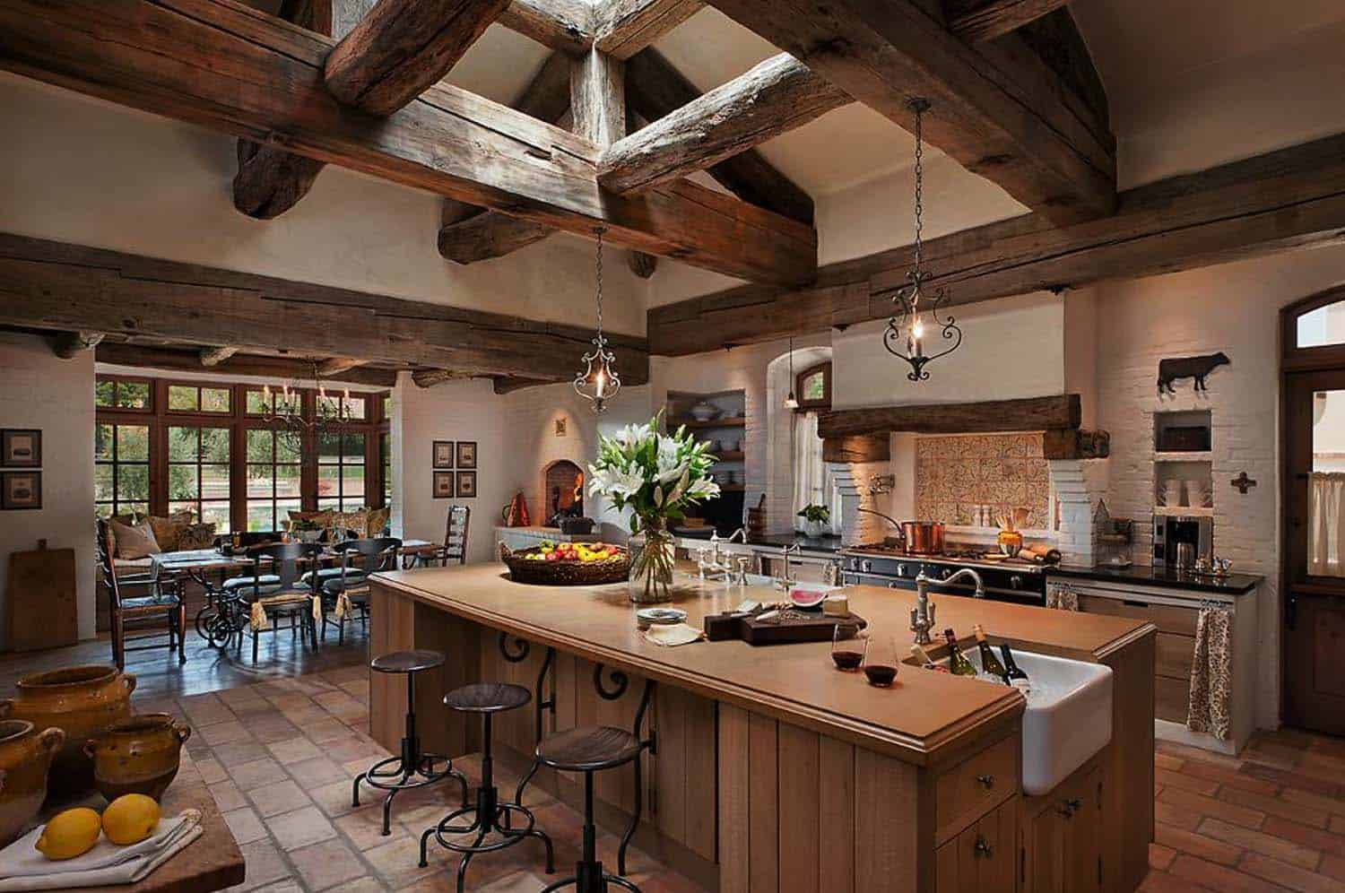 Amazing Country Chic Kitchens-18-1 Kindesign