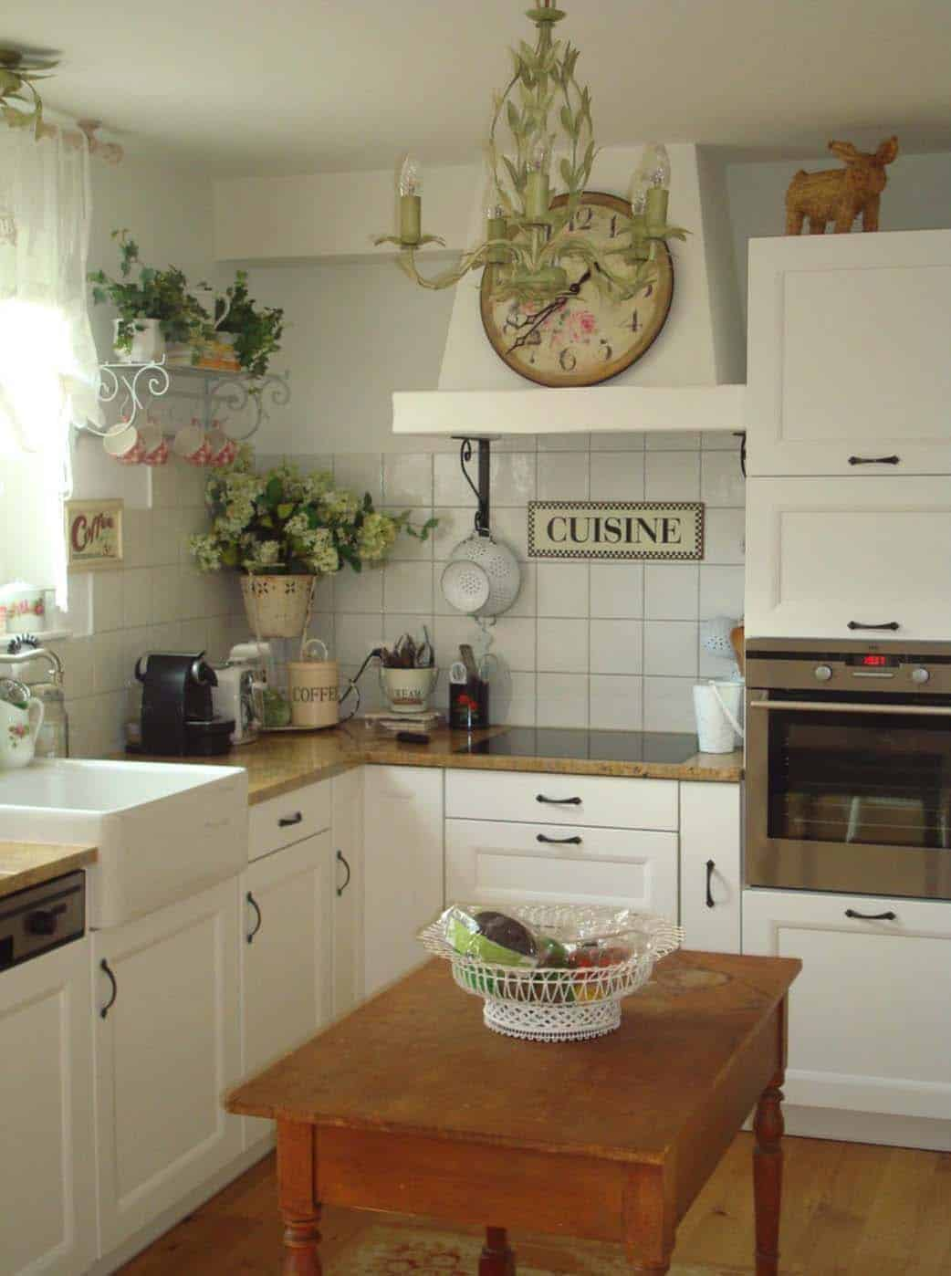 Amazing Country Chic Kitchens-19-1 Kindesign