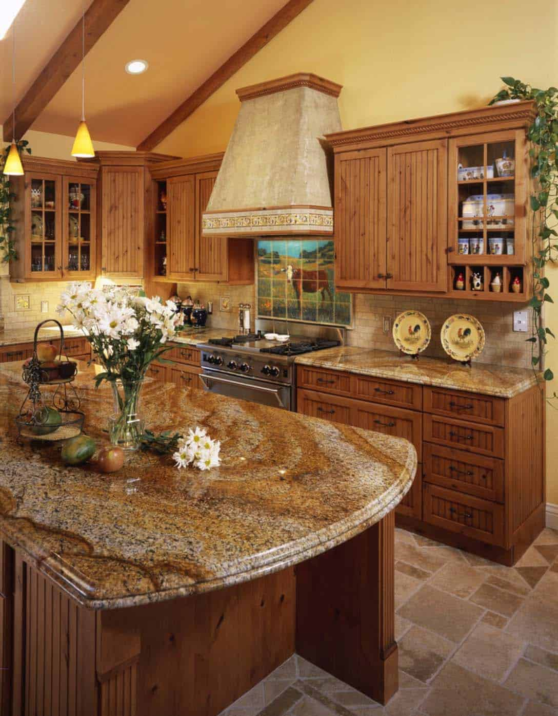 Amazing Country Chic Kitchens-21-1 Kindesign