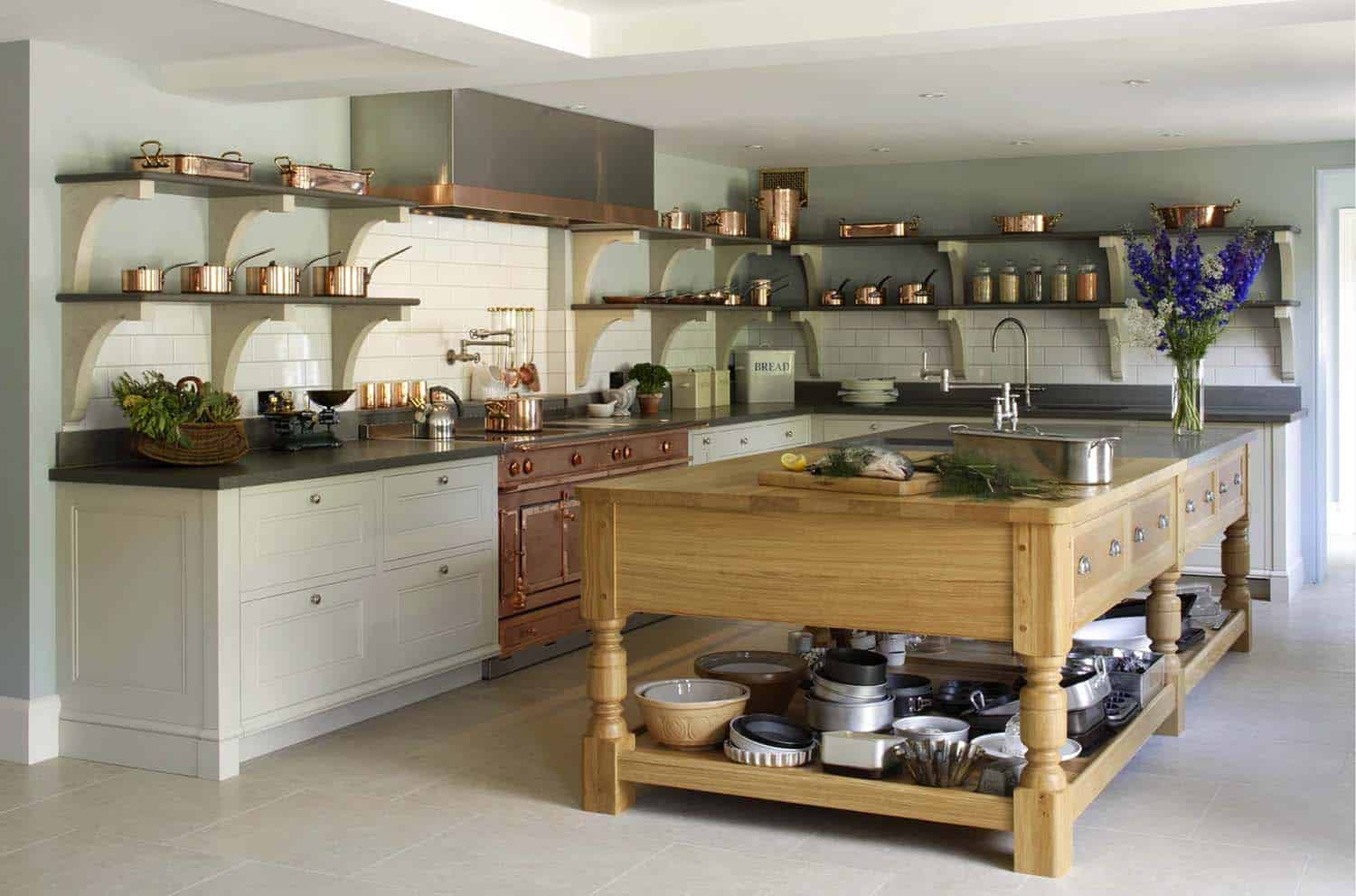 Amazing Country Chic Kitchens-24-1 Kindesign