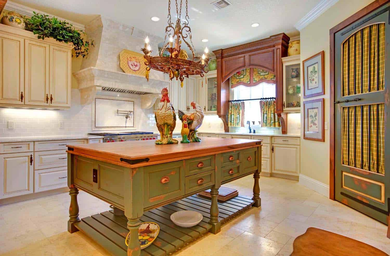 Amazing Country Chic Kitchens-25-1 Kindesign