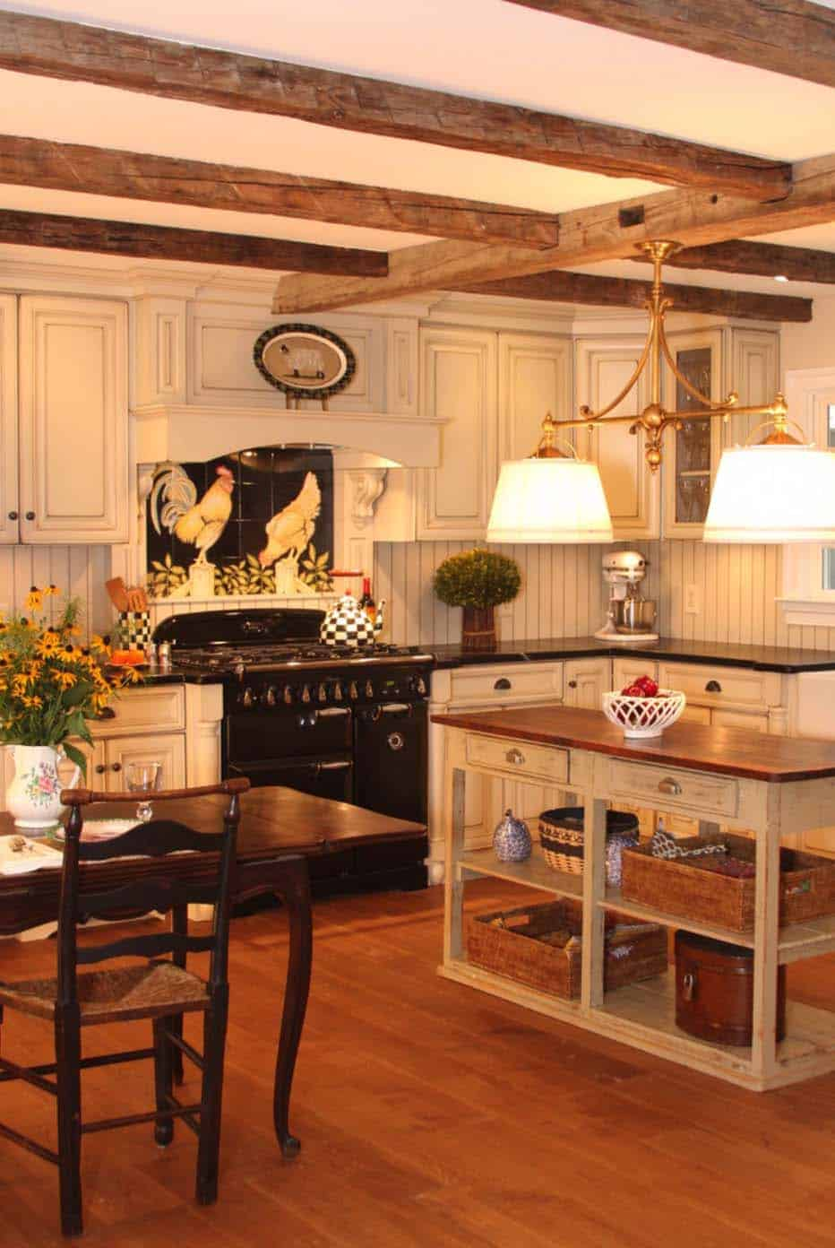Amazing Country Chic Kitchens-26-1 Kindesign