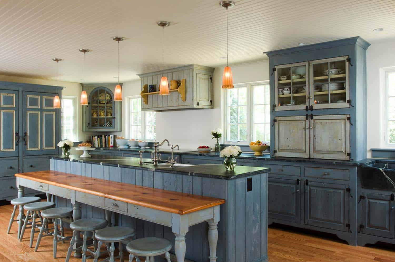 Amazing Country Chic Kitchens-31-1 Kindesign