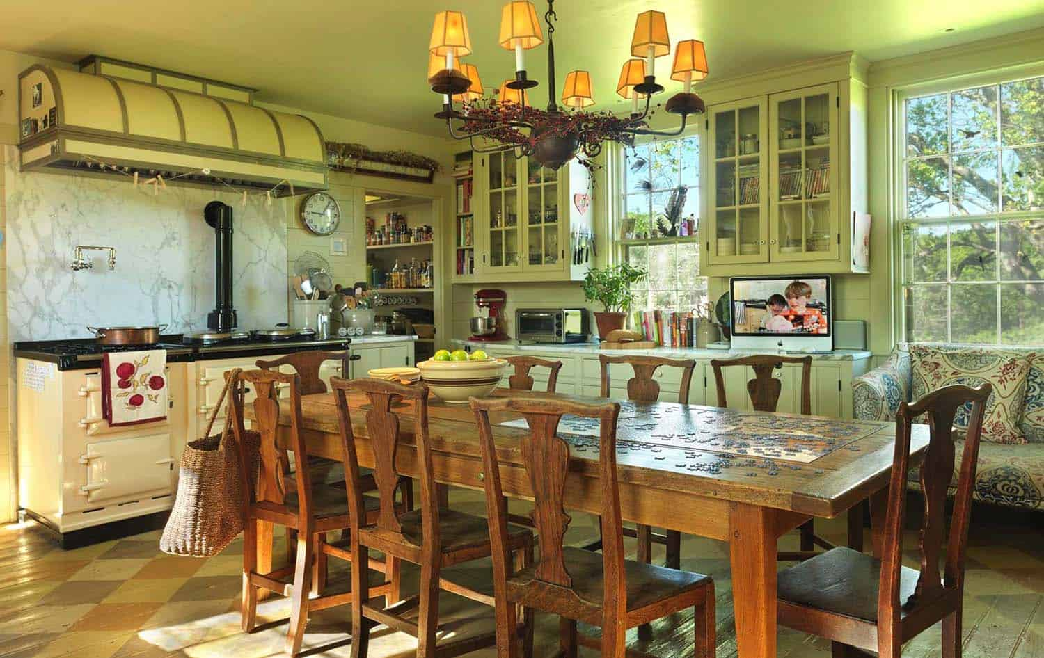 Amazing Country Chic Kitchens-32-1 Kindesign