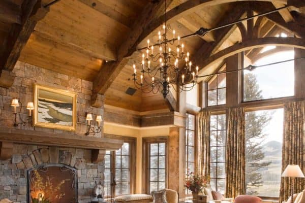featured posts image for Exquisite Big Sky mountain retreat with timeless details