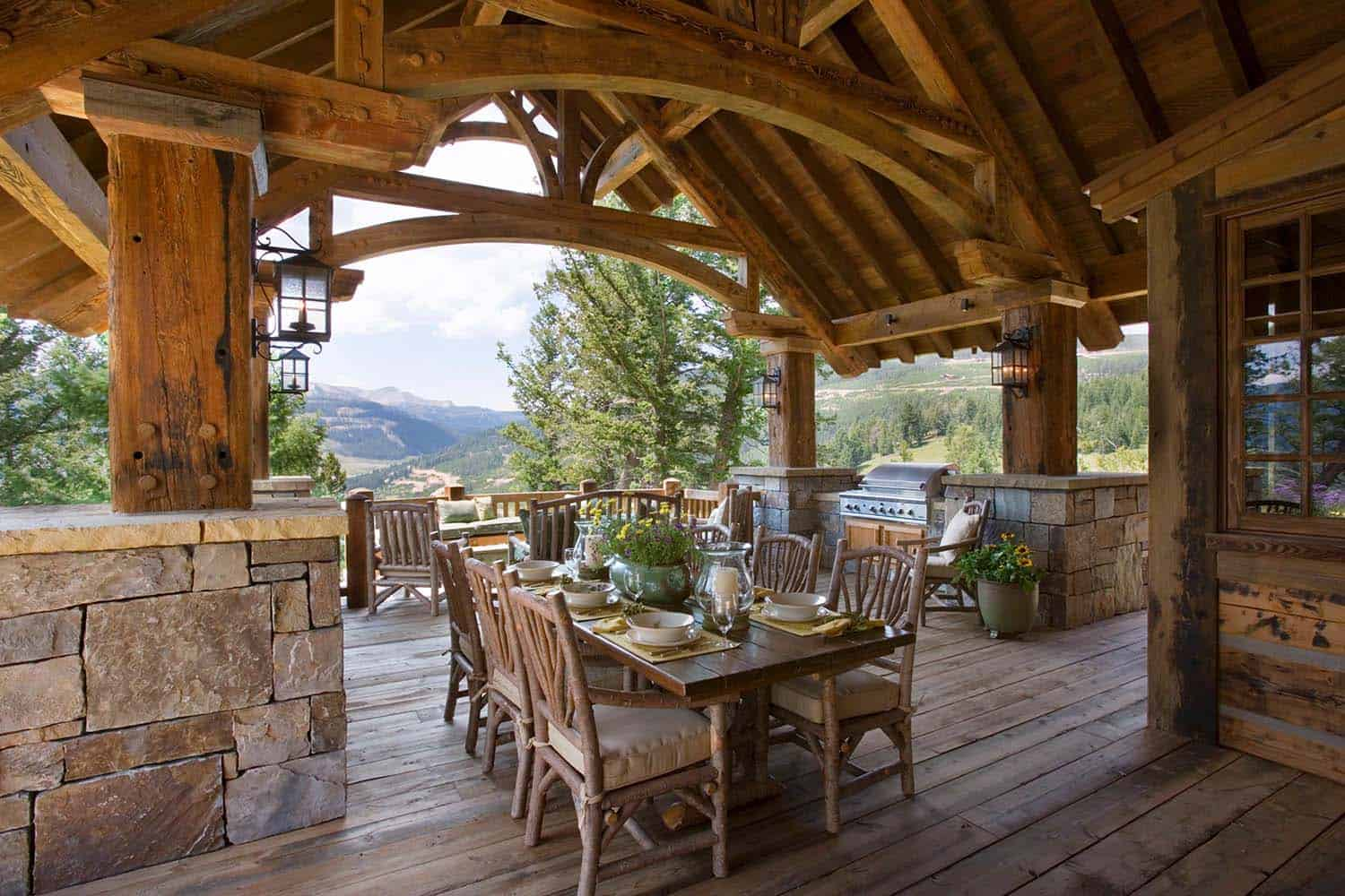Exquisite Big Sky mountain retreat with timeless details on Mountain Backyard Ideas id=95537