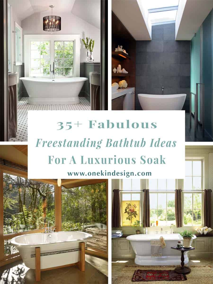 Large Kitchen Design Ideas00 35 Fabulous Freestanding Bathtub Ideas For A Luxurious Soak