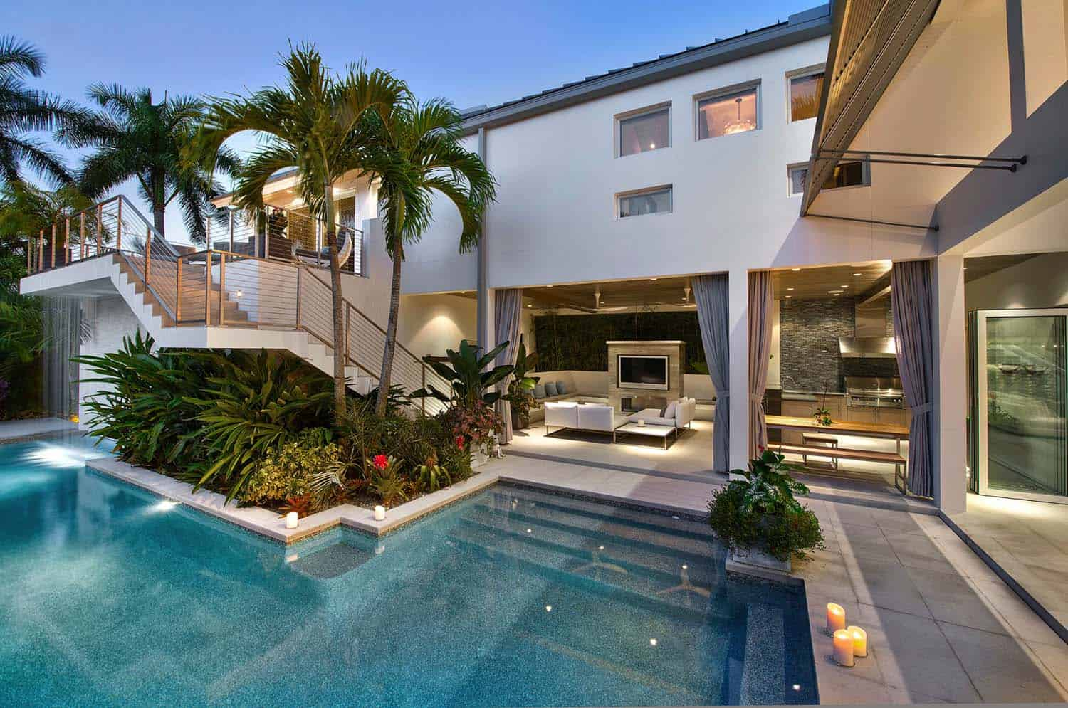 Exquisite modern coastal home in Florida with luminous interiors
