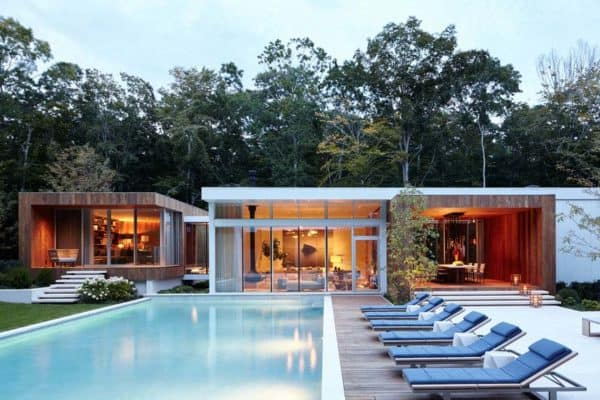 featured posts image for Modern home in Sagaponack features striking palette of wood and glass
