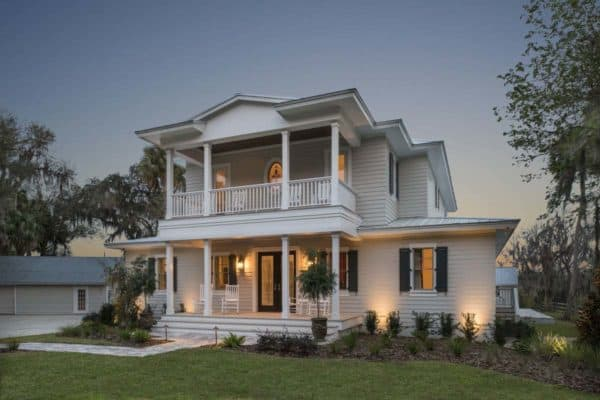 featured posts image for A sophisticated farmhouse style home set on a picturesque river