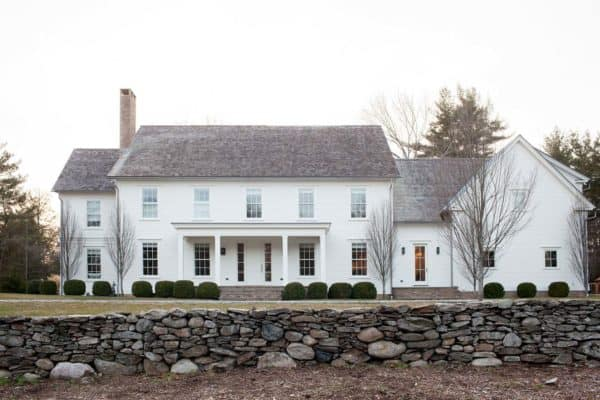 featured posts image for A modernized version of a New England farmhouse in Connecticut