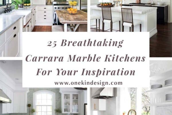 featured posts image for 25 Breathtaking Carrara Marble Kitchens for your Inspiration