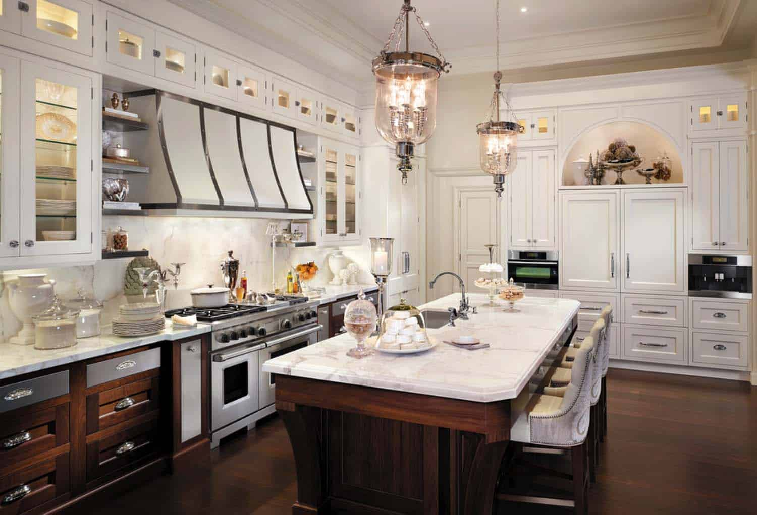 Breathtaking Carrara Marble Kitchens-05-1 Kindesign