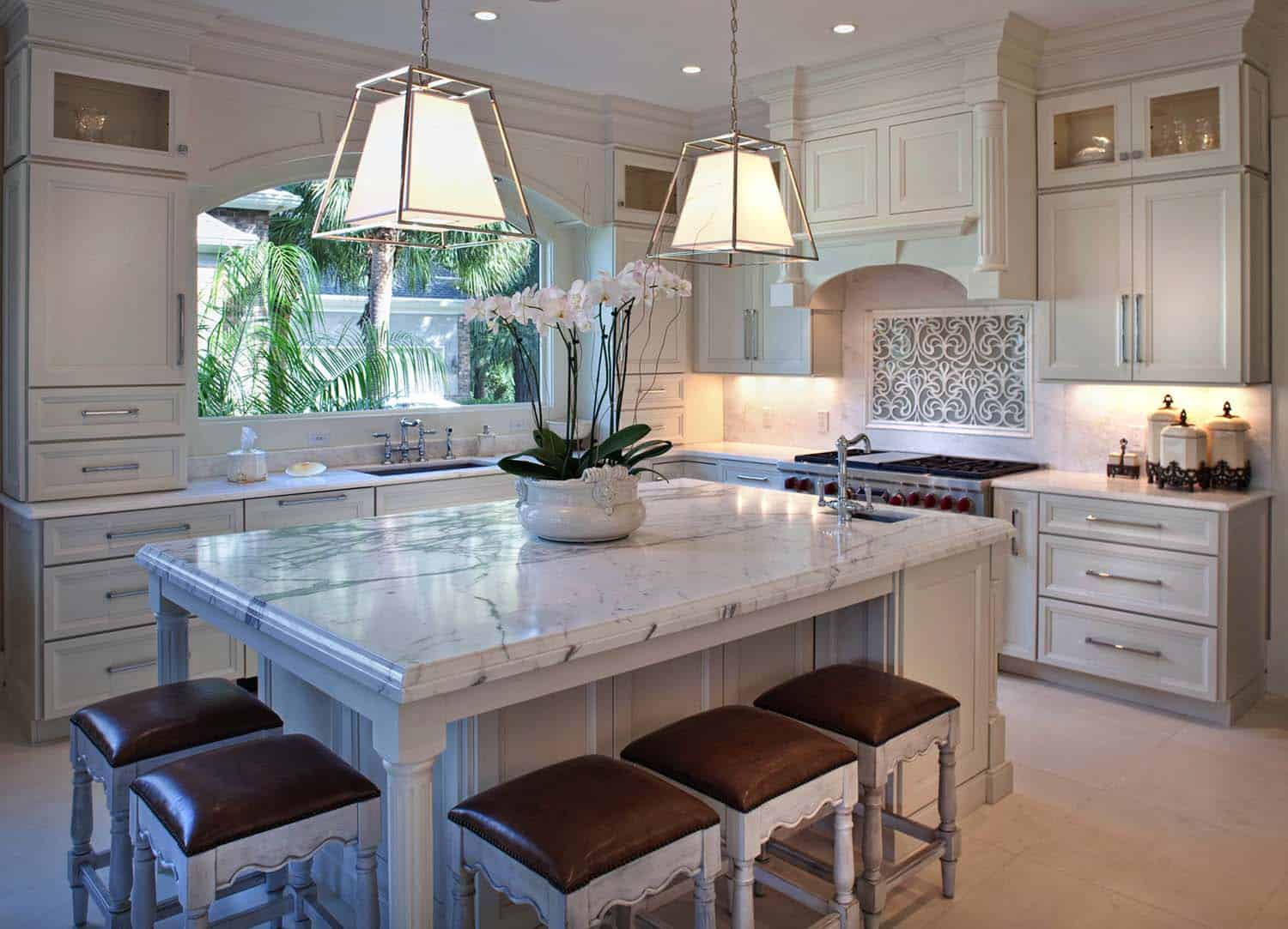 Breathtaking Carrara Marble Kitchens-13-1 Kindesign