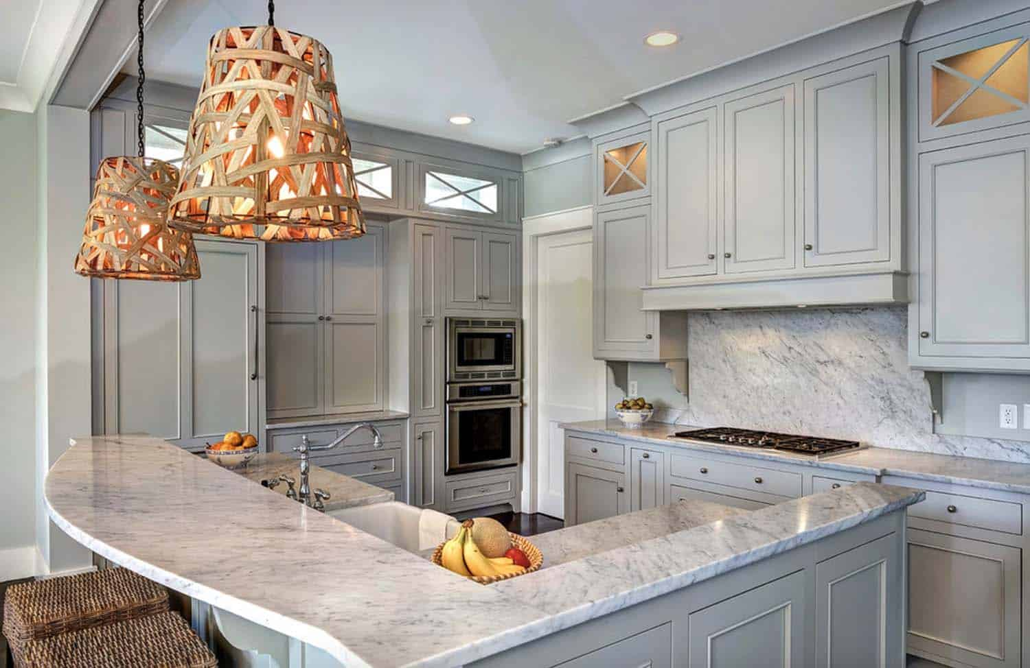 Breathtaking Carrara Marble Kitchens-16-1 Kindesign