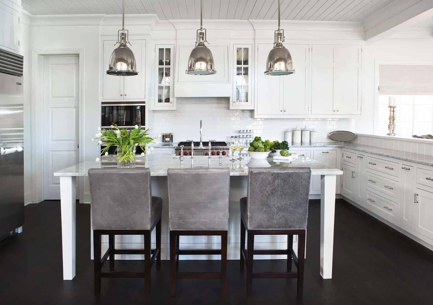 Breathtaking Carrara Marble Kitchens-21-1 Kindesign