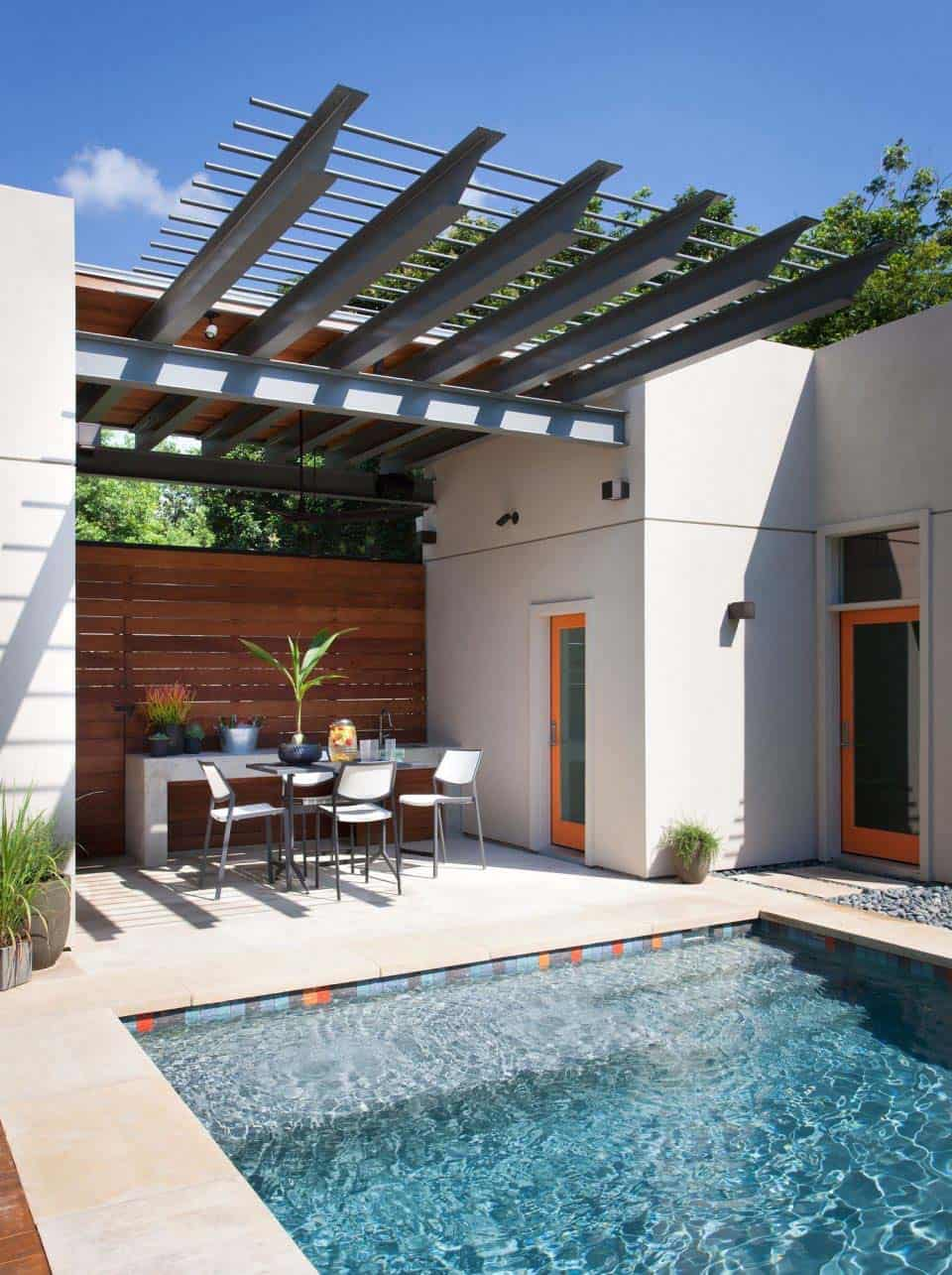 backyard oasis in austin with fabulous outdoor living spaces