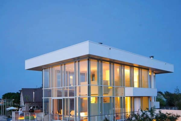 featured posts image for Modernized steel and glass beach house maximizes views on Fire Island