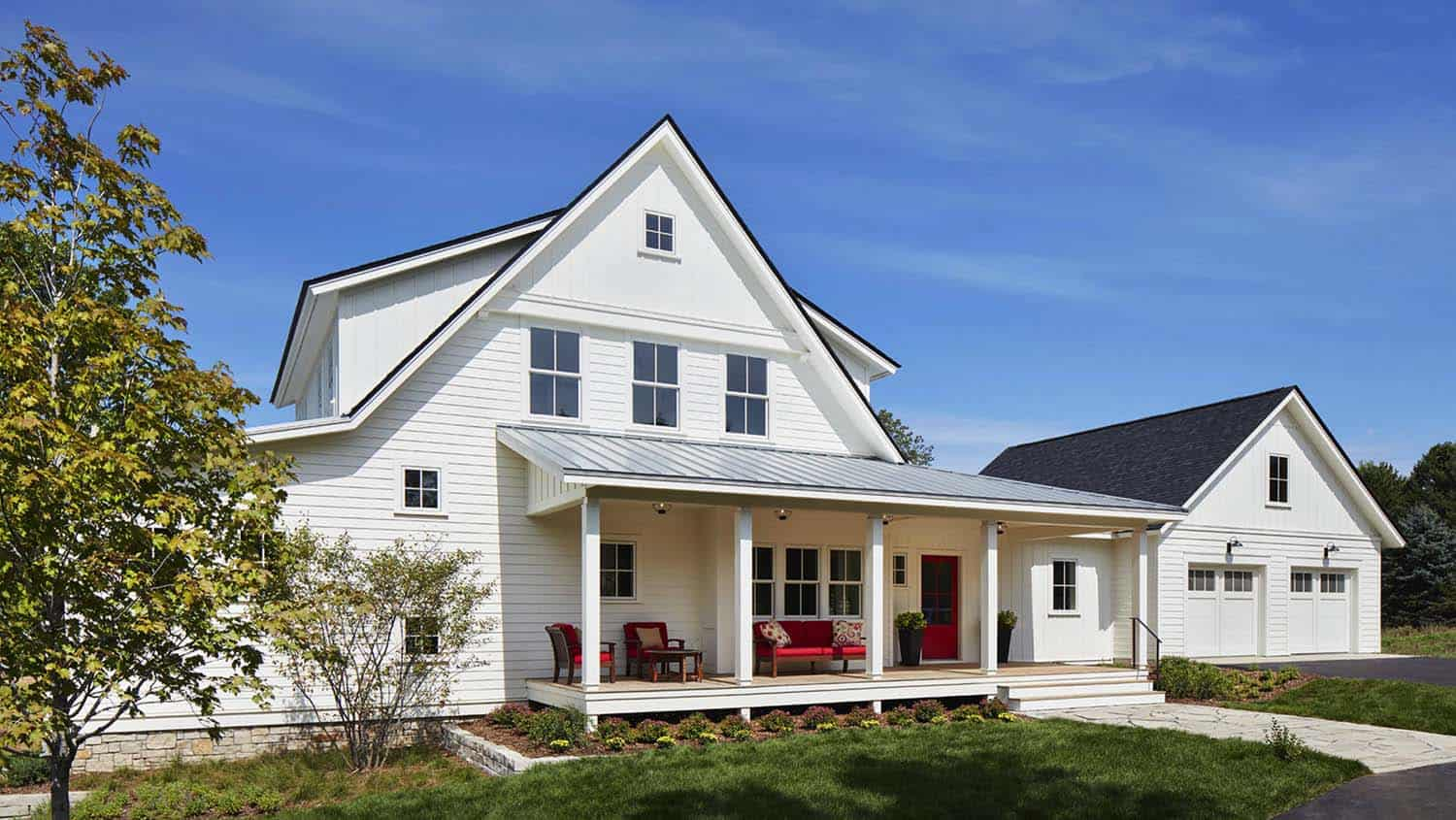 Breathtaking modern farmhouse nestled on a prairie setting in minnesota Model home furniture auction mn
