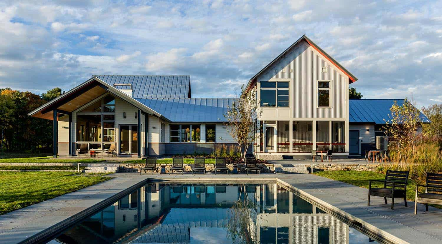 Modern retreat in Vermont inspired by a meadow landscape Huge Barndominium