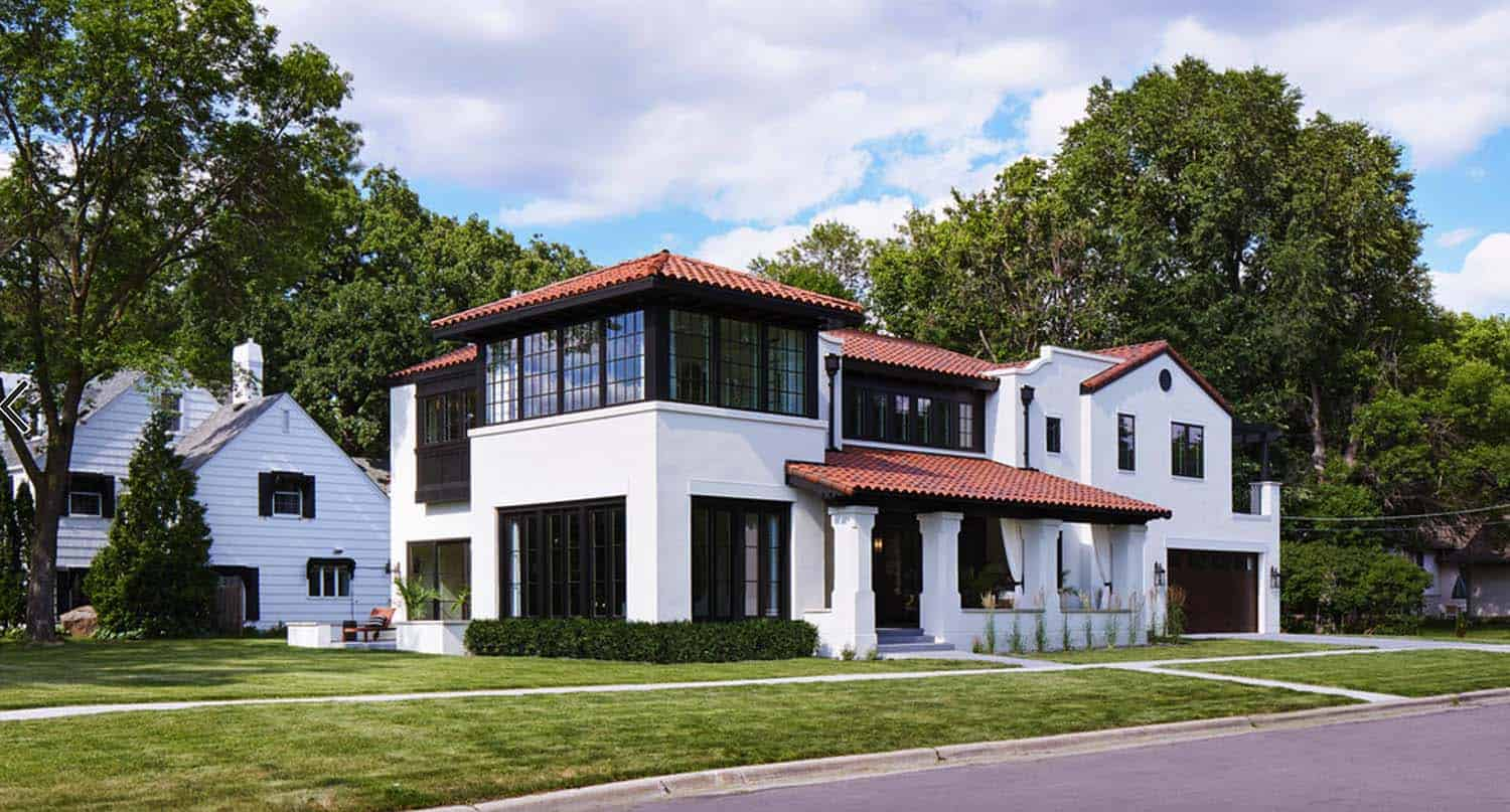 Modern Mediterranean home on the bluffs overlooking the Mississippi