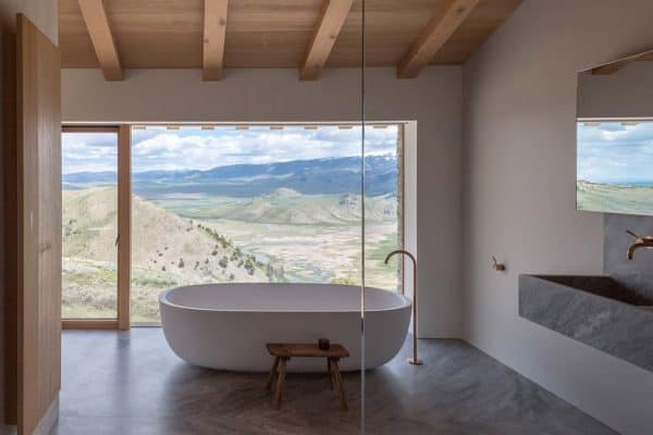 featured posts image for A minimally designed home perched over the Teton Mountain Range
