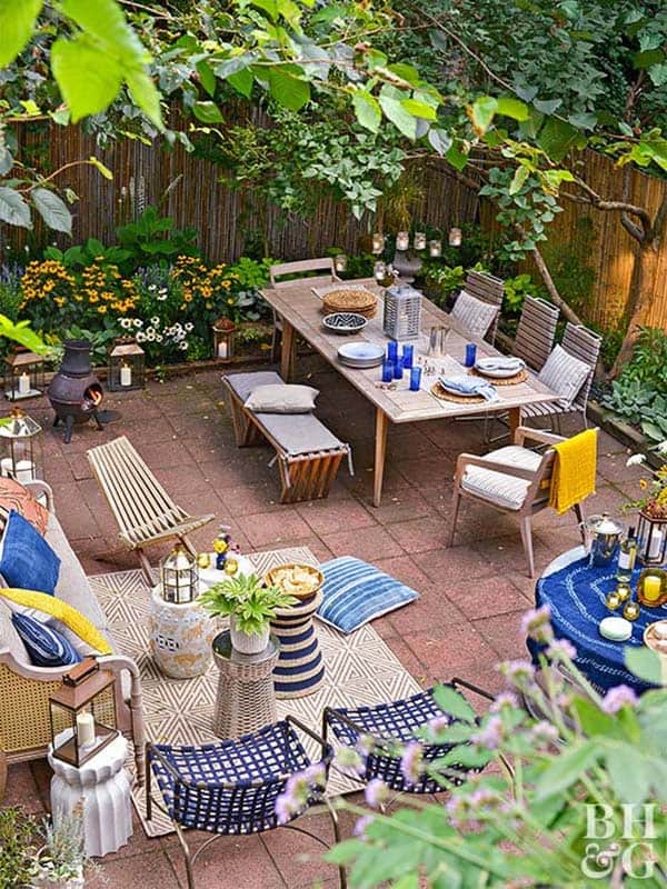 28 Absolutely dreamy Bohemian garden design ideas on Bohemian Patio Ideas id=19075