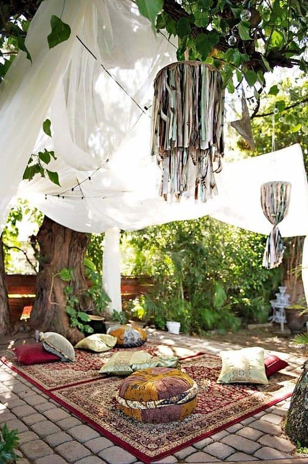 Bohemian Garden Design Ideas-13-1 Kindesign