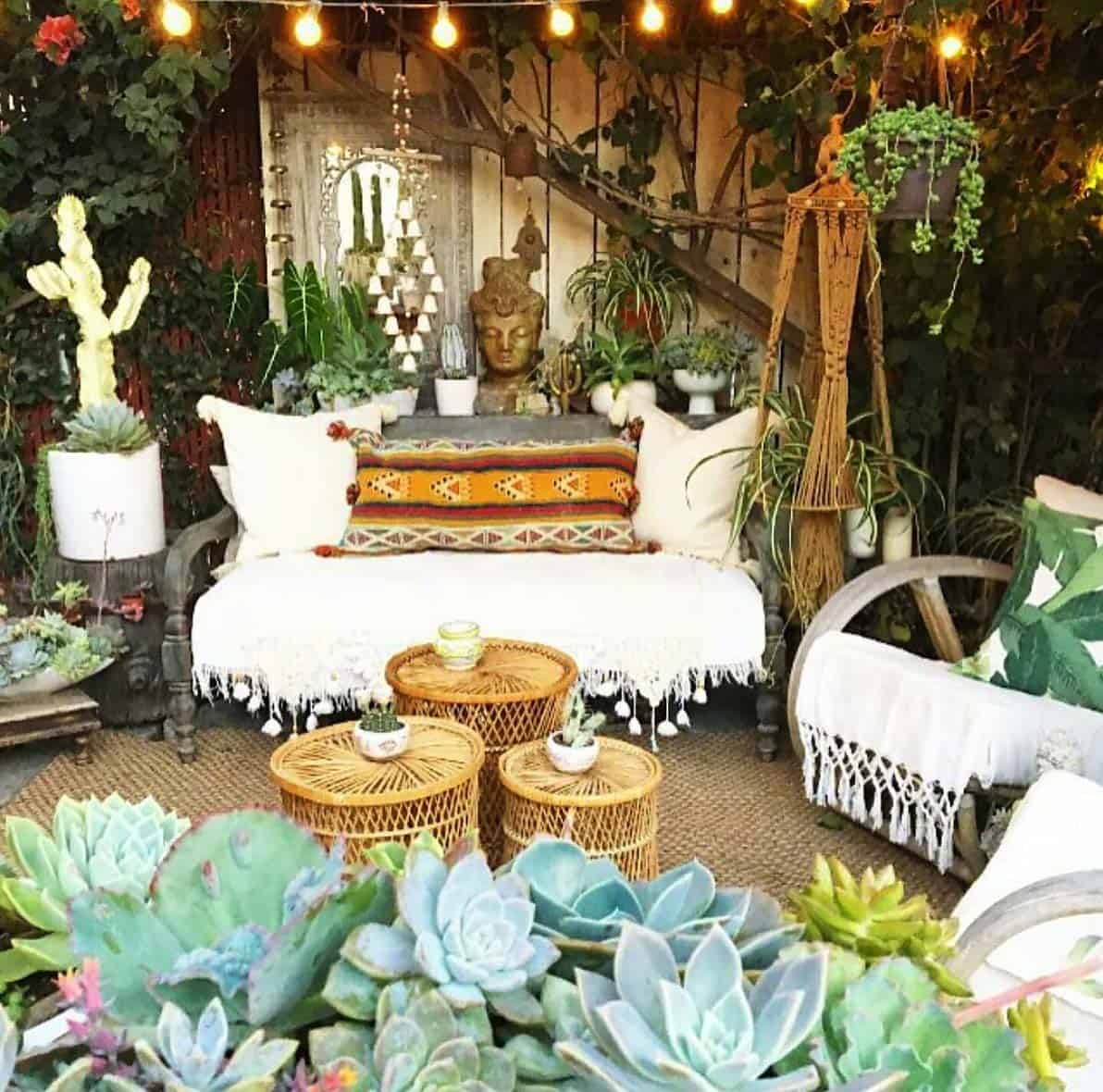 Bohemian Garden Design Ideas-14-1 Kindesign