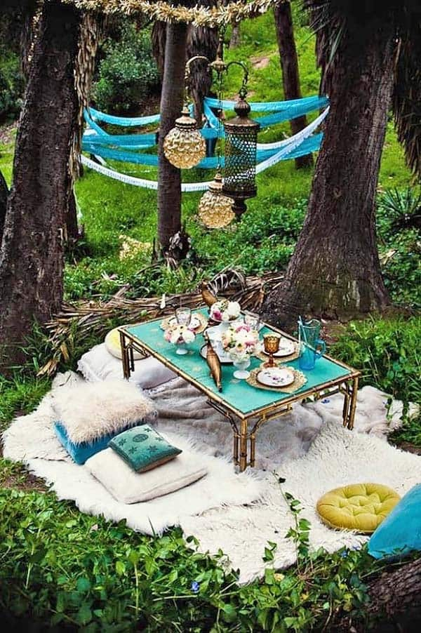 Bohemian Garden Design Ideas-17-1 Kindesign