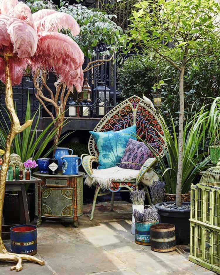 Bohemian Garden Design Ideas-21-1 Kindesign
