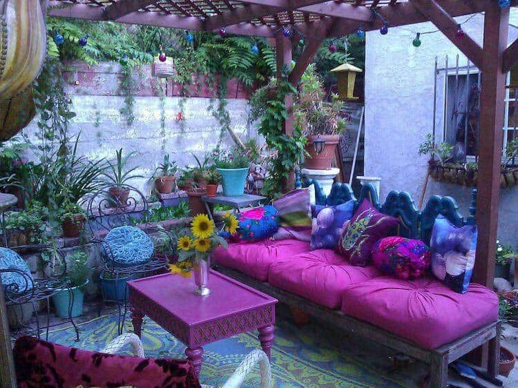 Bohemian Garden Design Ideas-28-1 Kindesign