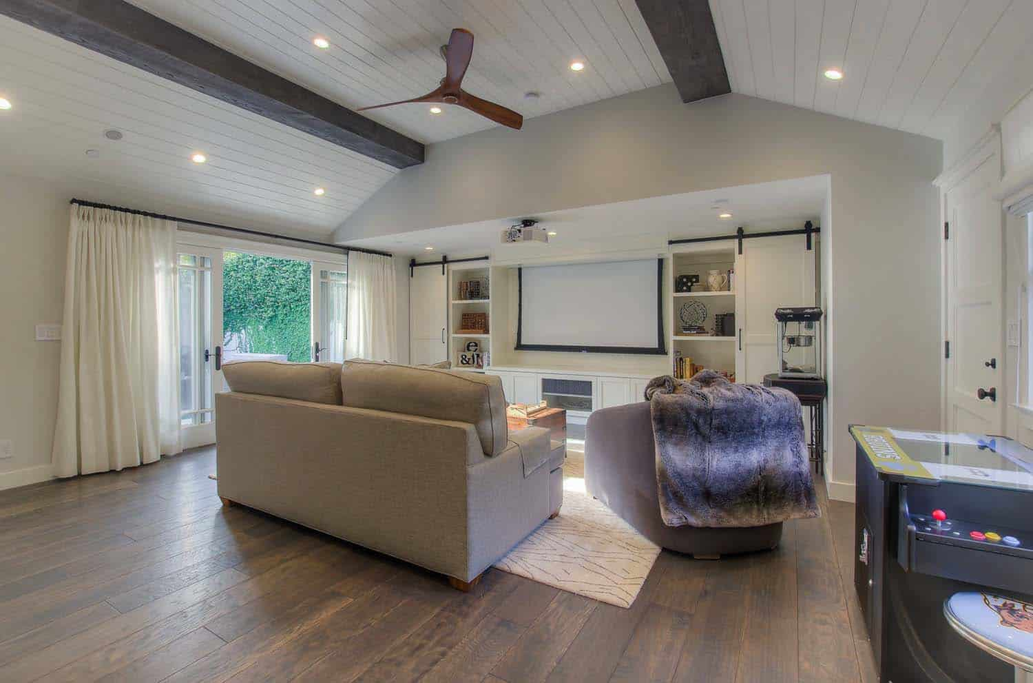 Garage Conversion To Cool Entertainment Space In Santa Monica