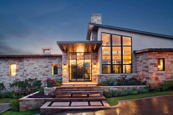 featured posts image for Contemporary courtyard style home with Texas Hill Country views