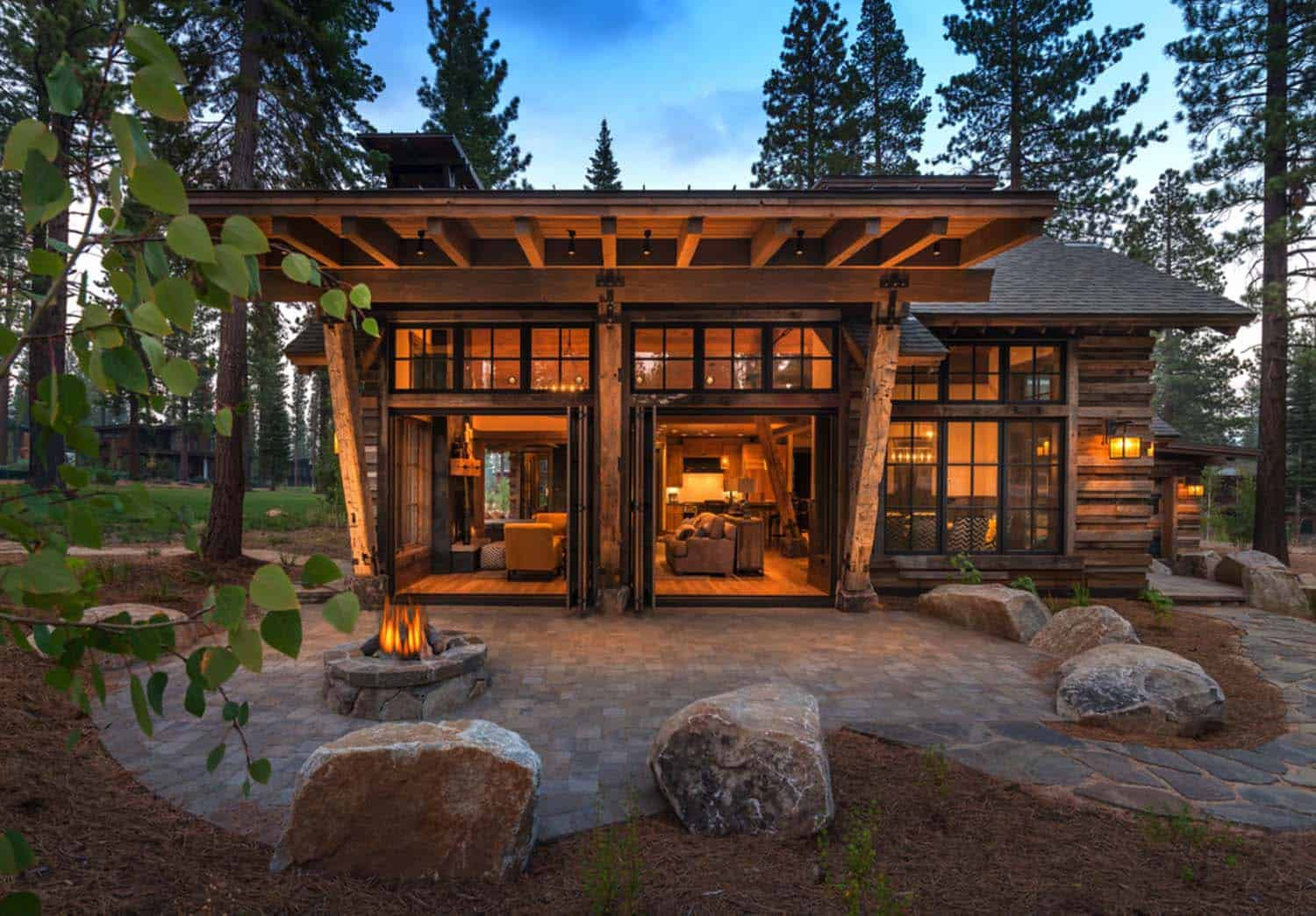 Cozy mountain style cabin getaway in martis camp california Modern mountain home plans