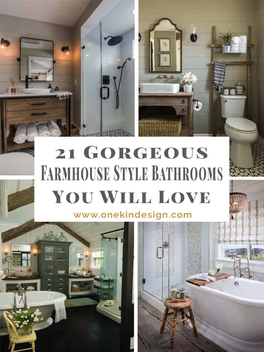 59 Best Farmhouse Wall Decor Ideas For Bathroom: 21 Gorgeous Farmhouse Style Bathrooms You Will Love