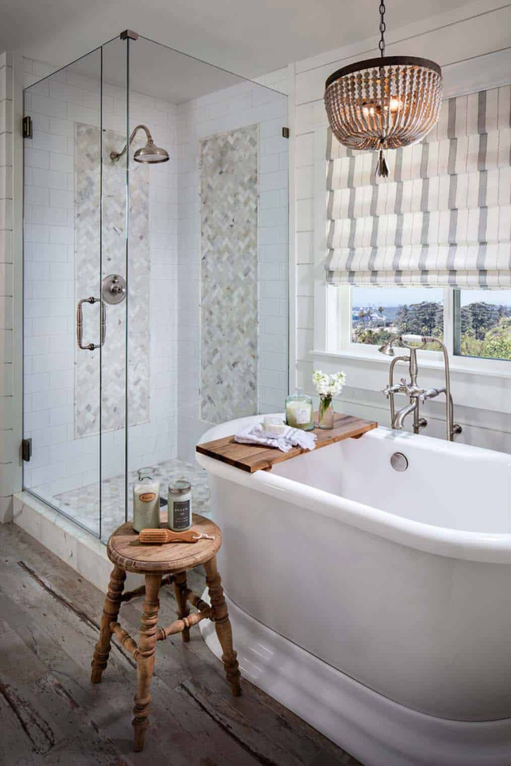 Gorgeous Farmhouse Style Bathrooms-08-1 Kindesign